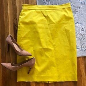 J. Crew Skirts - J. Crew No. 2 yellow pencil skirt 10 tall stretch